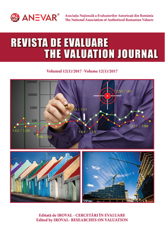 REVISTA DE EVALUARE / THE VALUATION JOURNAL - vol. 12 (1/2017)
