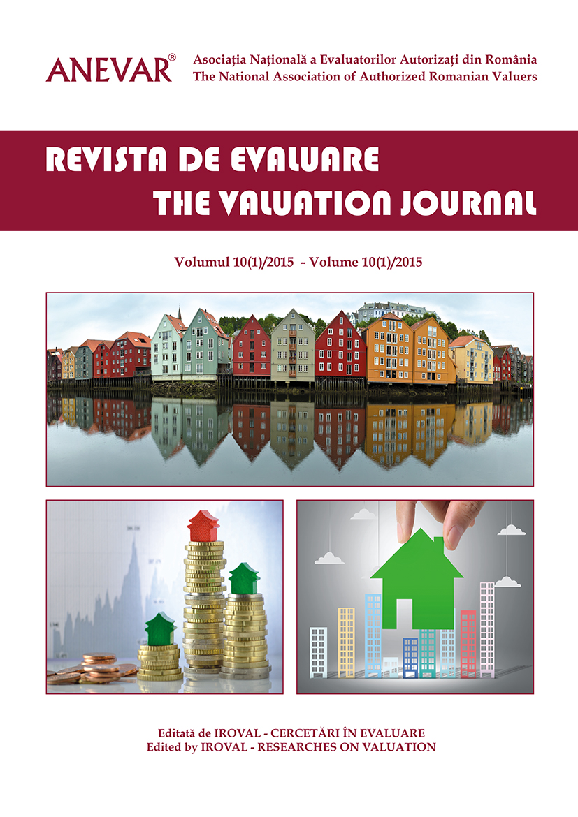REVISTA DE EVALUARE / THE VALUATION JOURNAL - vol.  10 (1/2015)