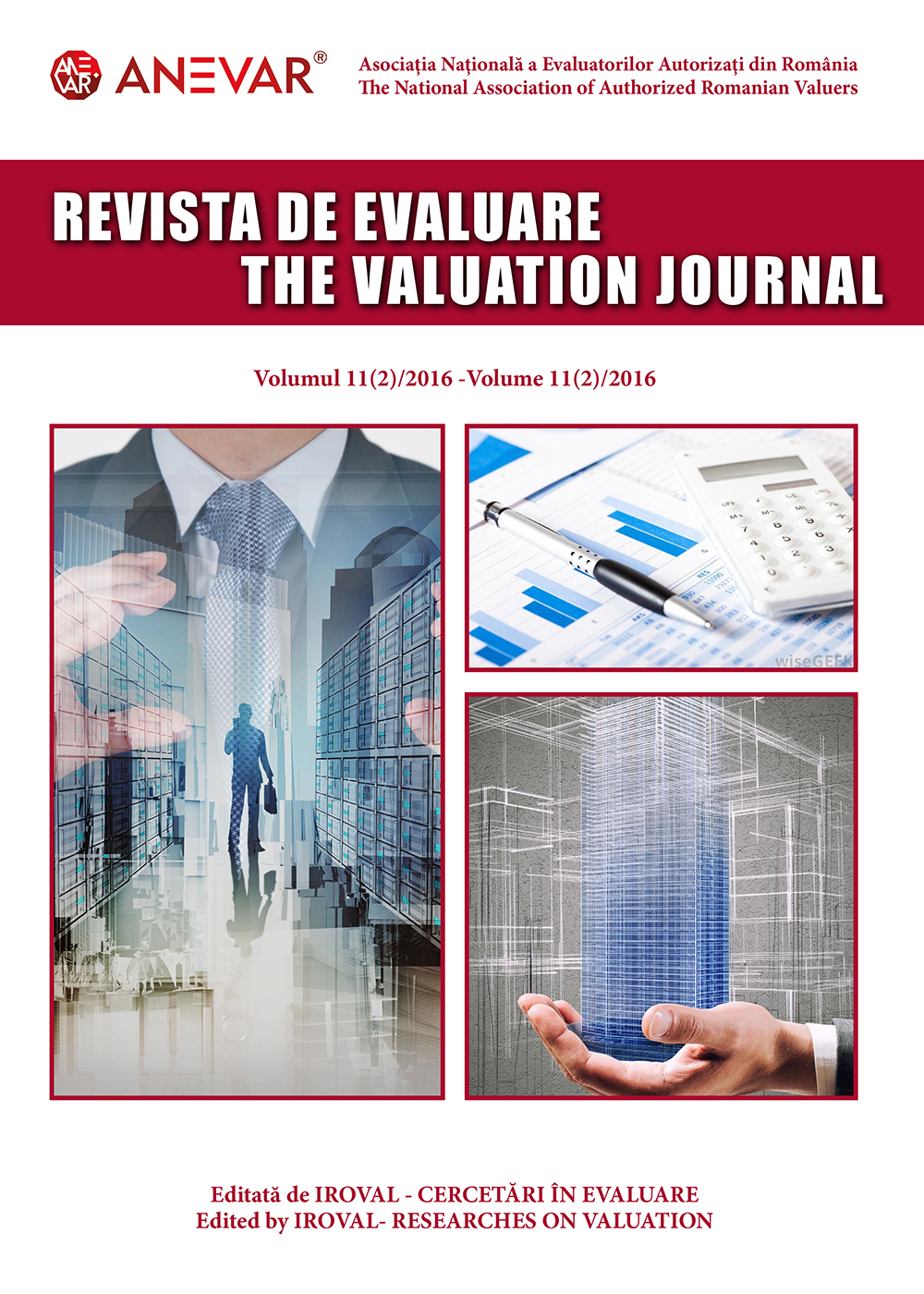 REVISTA DE EVALUARE / THE VALUATION JOURNAL - vol. 11 (2/2016)